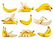 Set of yellow ripe fragrant banana — Stock Photo