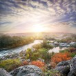 Landscape with a mountain river flowing among the rocks — Stock Photo #64332813