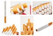 Set of photos with cigarettes — 图库照片