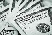 Background of hundred-dollar bills — Stock Photo