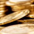Bright golden coins shot a bunch — Stock Photo #68521051