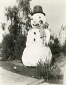 Snowman in the summer — Foto Stock