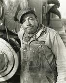 Annoyed workman — Stock Photo