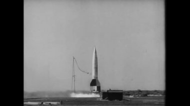 V-2 missile launch, World War II — Stock Video