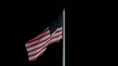 American flag against black background — Stock Video