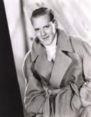 Man wearing wrap coat — Stock Photo