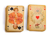 Antique cards — Stock Photo