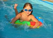 Girl in swimming pool — Stock Photo
