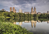 At the lake in Central Park — Stock Photo