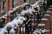 New York City Manhattan brownstone — Stock Photo