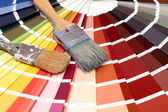 Color table and whitewash — Stock Photo