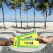 Tickets to Football Soccer Final Event in Copacabana Rio Brazil — Stock Photo #69558955