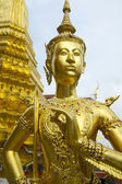 Golden Kinnon (Kinnaree) Statue at Grand Palace Bangkok Thailand — Stock Photo