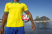 Brazilian Soccer Football Player Standing in Rio — Stock Photo