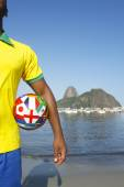 Brazilian Soccer Football Player Standing in Rio — Foto Stock