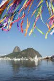 Brazilian Wish Ribbons Sugarloaf Mountain Botafogo — Stock Photo
