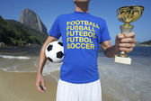 International Soccer Football Player Ipanema Rio — Stock Photo