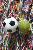 Football and Coconut Salvador Bahia Brazil — Stock Photo