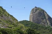 Sugarloaf Pao de Acucar Mountain Cable Cars Rio — Stock Photo