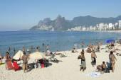 Arpoador Ipanema Beach Rio de Janeiro Brazil Skyline — Stock Photo