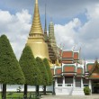 Golden Buddhist Pagoda Spires at Grand Palace Bangkok Thailand — Stock Photo #69992989