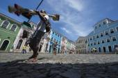 Colorful Colonial Architecture Pelourinho Salvador Brazil — Stock Photo