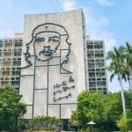 Che Guevara Portrait Havana Cuba Plaza de La Revolucion — Stock Photo #73066237