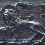 Lion of Saint Mark Wall Relief Venice Italy — Stock Photo #73066683
