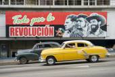 Communist Propaganda Billboard and Car in Havana Cuba — Stock Photo