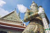Monkey Demon Statue at Grand Palace Bangkok Thailand — Stock Photo