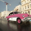 Vintage Pink American Car Taxi Havana Cuba — Stock Photo #73650395