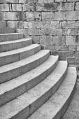 Half Round Staircase at Old Church Dubrovnik Croatia — Stock Photo
