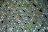 Woven Palm Frond Background — Stock Photo