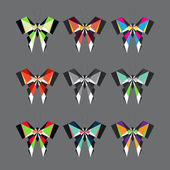 Abstract butterfly set — Stock Vector