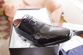Shoe husband — Stock Photo