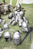 Armor medieval weapons — Stock Photo