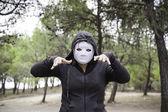 Hooded Murderer — Stock Photo