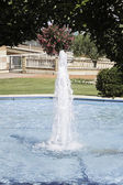 Fountain in garden — Stock Photo