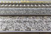 Steel Railroad tracks — Stock Photo