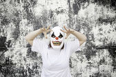 Crazed Clown — Stock Photo