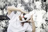 Clown anguish fear — Stock Photo