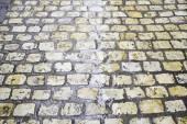 Wet floor tiles — Stockfoto