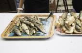 Sardines grilled bread — Zdjęcie stockowe