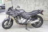 Moto burned — Stock Photo