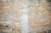 Wall bricks cemented — Stock Photo
