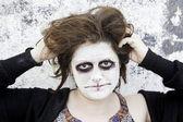 Crazy woman makeup — Stock Photo