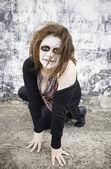Devilish woman — Stock Photo