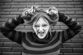 Deformierte Frau — Stockfoto