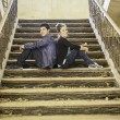 Couple on stairs — Stock Photo #72998565