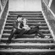 Happy couple steps — Stock Photo #73001387